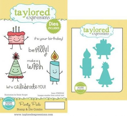 TEPS162 ~ PARTY PALS - SET OF Stamps with coordinating dies by Taylored Expressions